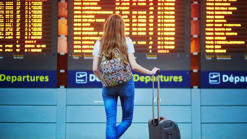 cestovanie, turistka, turista, letisko,...