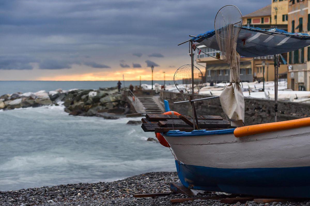 Taliansko, more, loď, čln