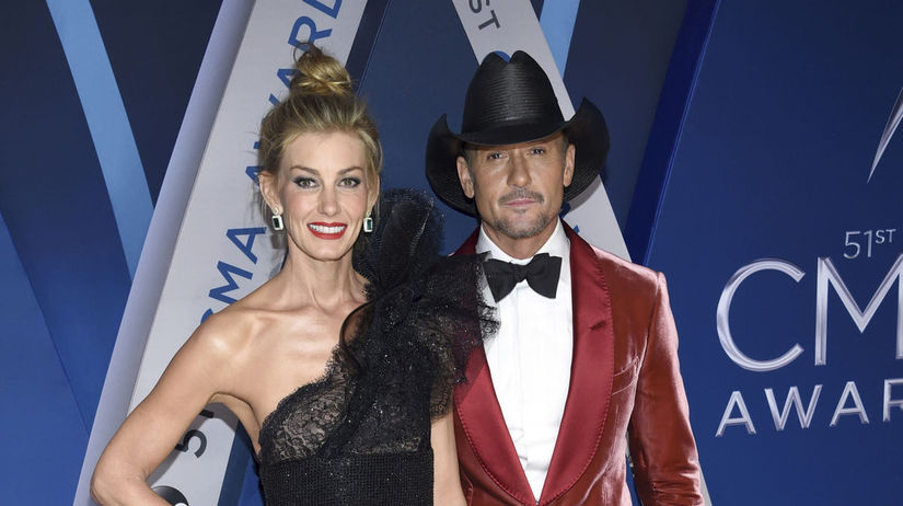 Speváčka Faith Hill a jej manžel Tim McGraw.