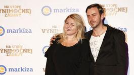 Evelyn Kramerová a jej kamarát - herec Števo Martinovič.