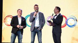 Martin Pyco Rausch (Vpravo) spovedá Andyho Krausa (v strede) a Petra Marcina