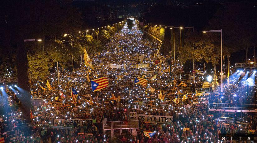 katalánsko, španielsko, barcelona, protest