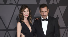 Herec a producent Adam Sandler a jeho manželka Jackie Sandler.