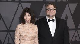 Herečka Sally Hawkins a režisér Guillermo del Toro.