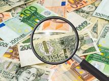 peniaze, mena, lupa, euro, česká koruna