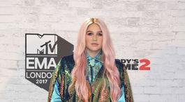 Speváčka Kesha na vyhlásení MTV EMA 2017 účinkovala.