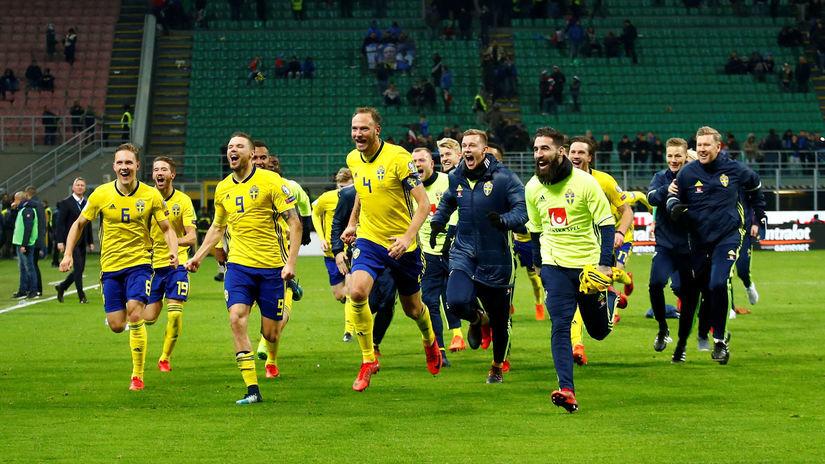 Švédsko, futbal, radosť