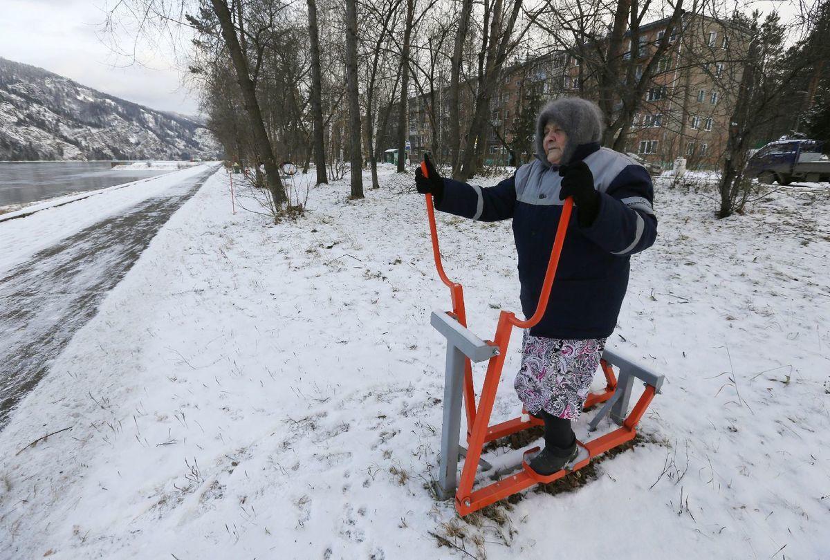 sneh, Rusko, cvičenie