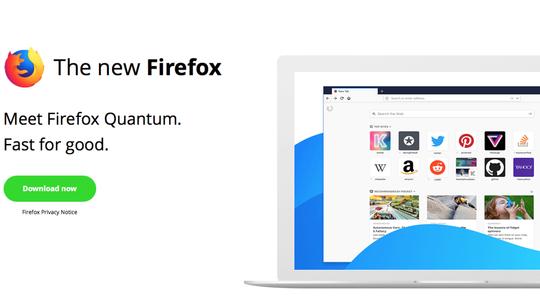 Mozilla, Firefox, Quantum, prehliadač