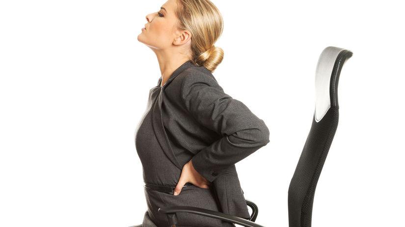 chrbát, bolesť, stolička, sedenie