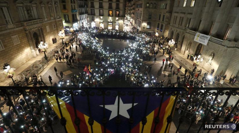 Katalánsko, Barcelona, protest