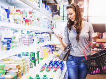 mliečne výrobky, žena obchod