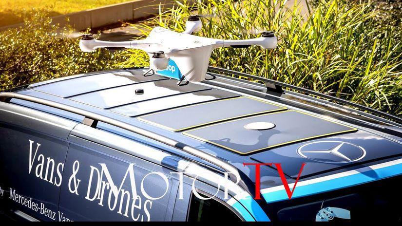 Mercedes-Benz - doručovanie pomocou dronov