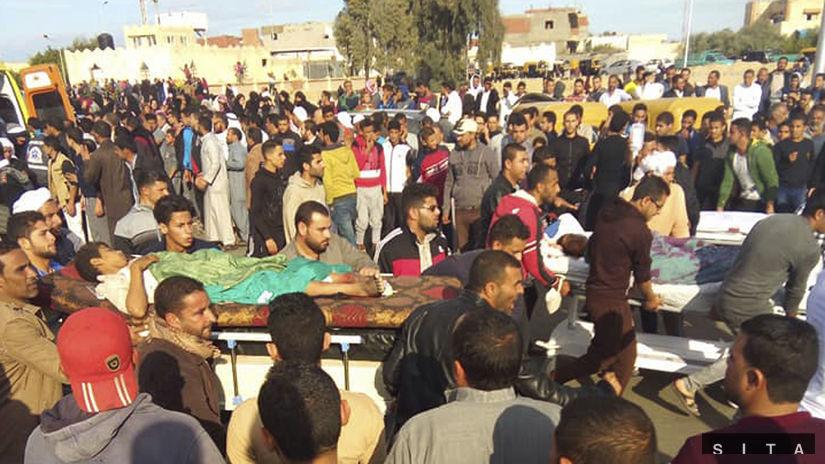 Egypt, terorizmus, zranení
