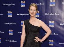 Herečka Cynthia Nixon na vyhlásení cien Gotham Awards v New Yorku.