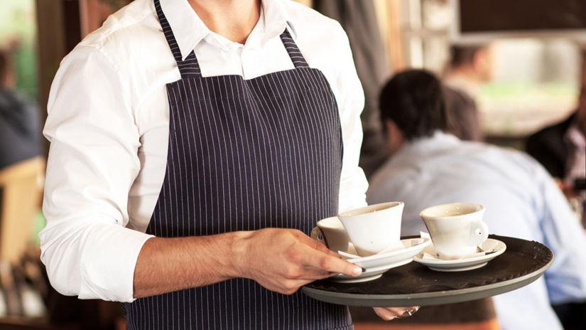 čašník. zamestnanie, káva