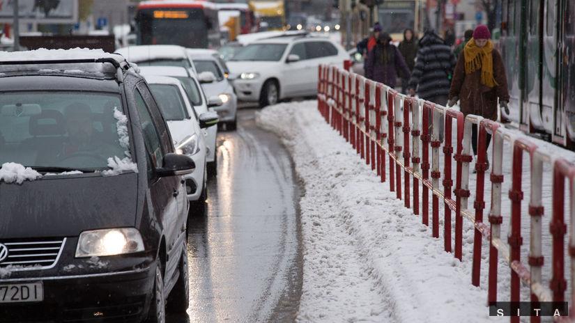 POČASIE: Sneženie v hlavnom meste