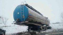 Šaľa, cisterna, cesta, sneh