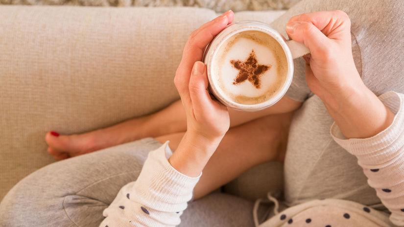 škorica, káva, relax