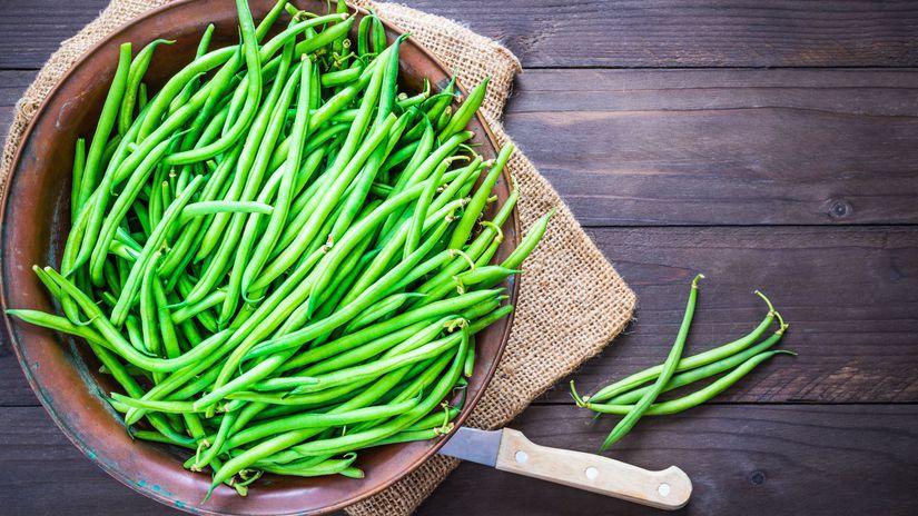 zelená fazuľka, strukoviny