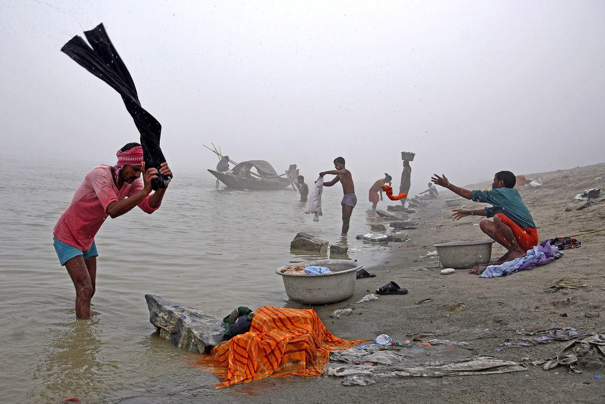 India, rieka pranie