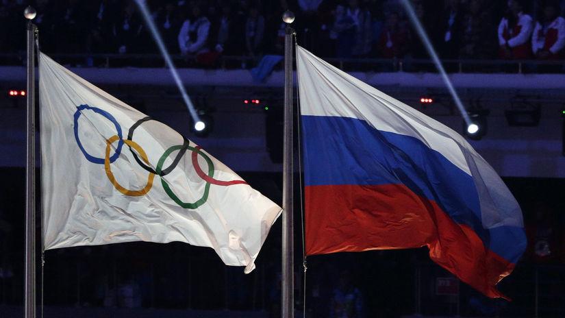 Olympijská vlajka, ruská vlajka