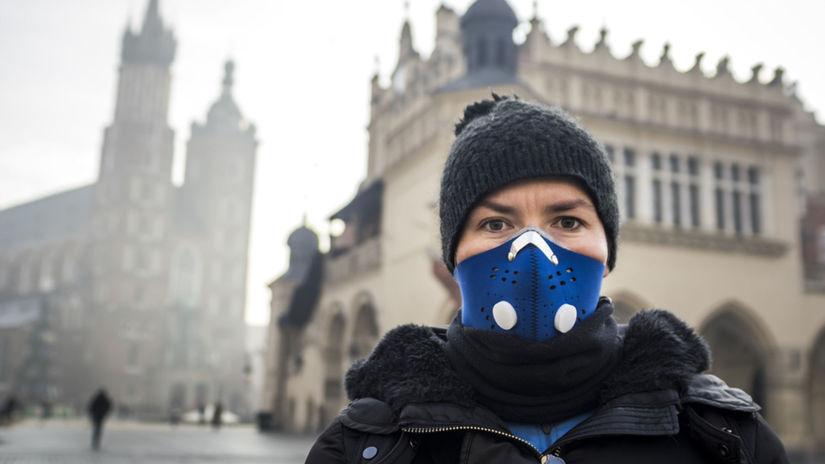 smog, žena, mesto