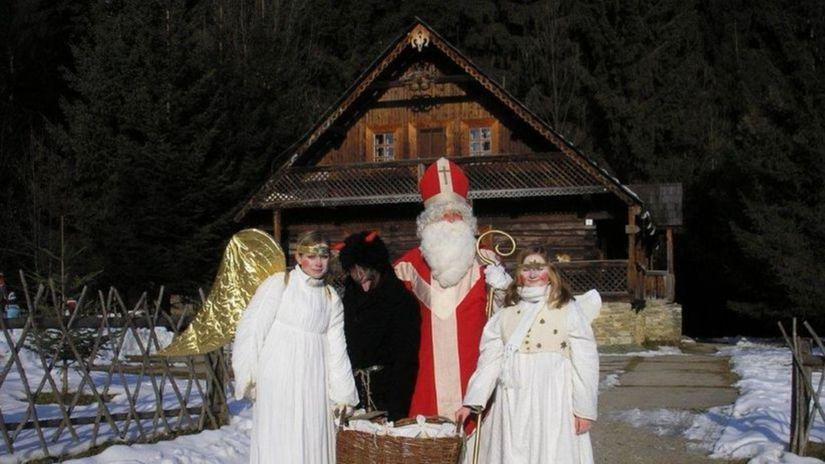 Mikuláš, anjeli, Vianoce, zima
