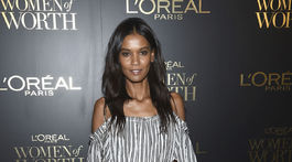Modelka Liya Kebede na akcii L'Oreal Women of Worth Awards.