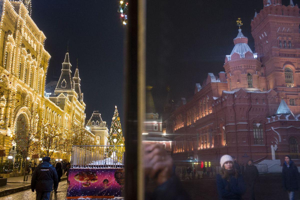 Rusko, Moskva, Vianoce, výzdoba, Červené námestie