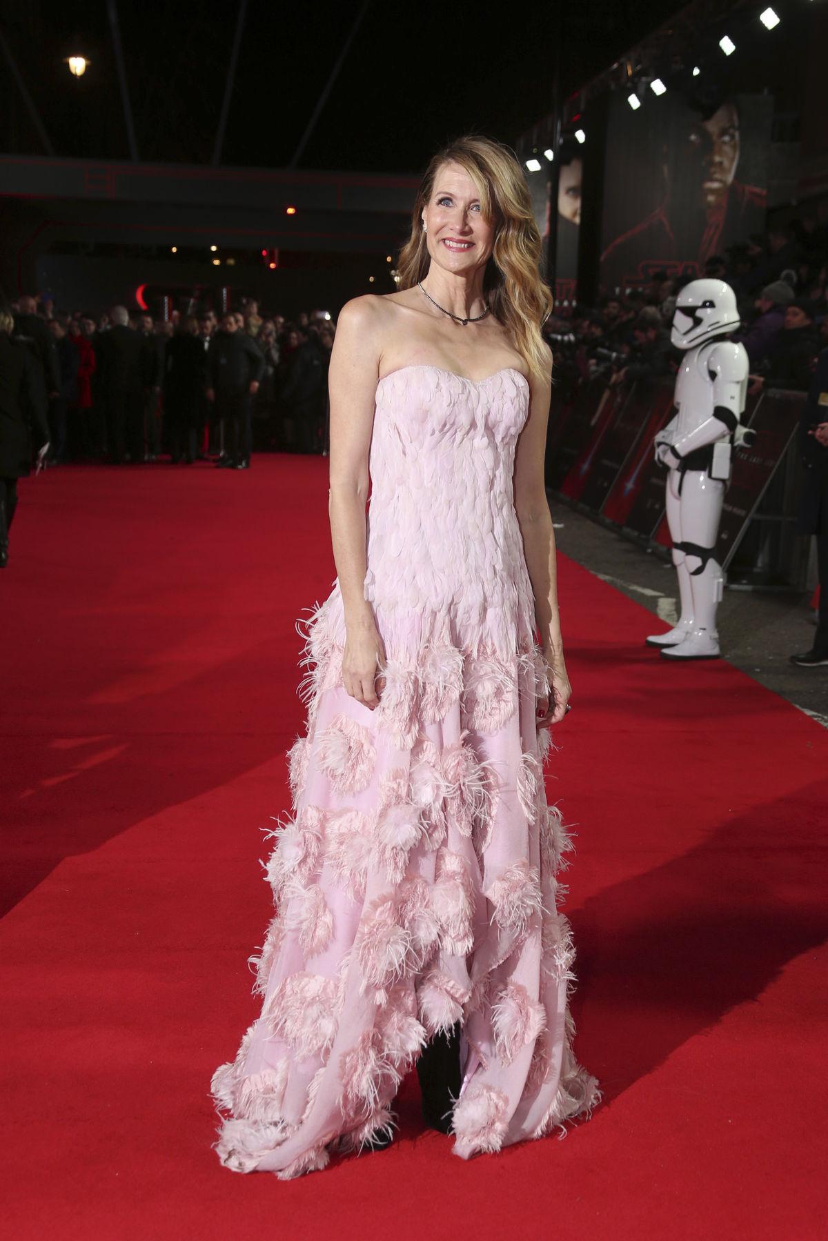 Herečka Laura Dern v kreácii Alexander McQueen.