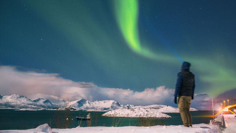Polárna noc, polárna žiara, Nórsko