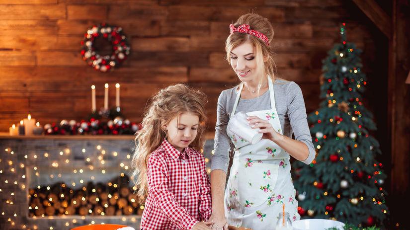 pečenie, mama, vianoce