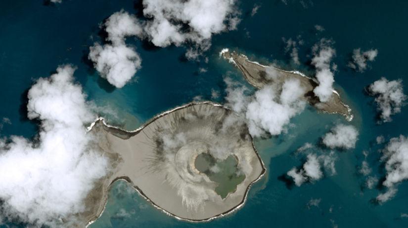 sopka, ostrov, oceán