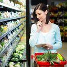 žena, nákup, potraviny