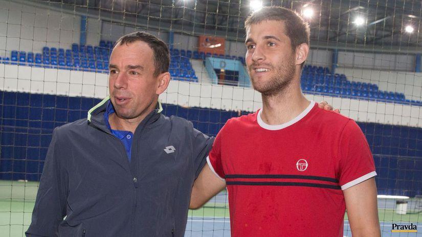 Dominik Hrbatý a Martin Kližan.