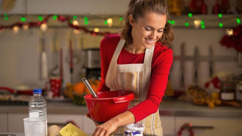 pečenie, žena, vianoce
