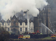 Škótsko, požiar