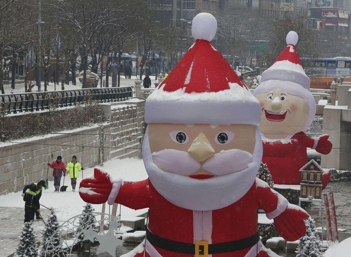 Južná Kórea, Santa Claus, Vianoce