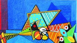 Kopulace, 1981, olej, 147 x 195 cm