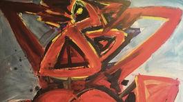 Požárnice, 1988, olej, 182 x 122 cm