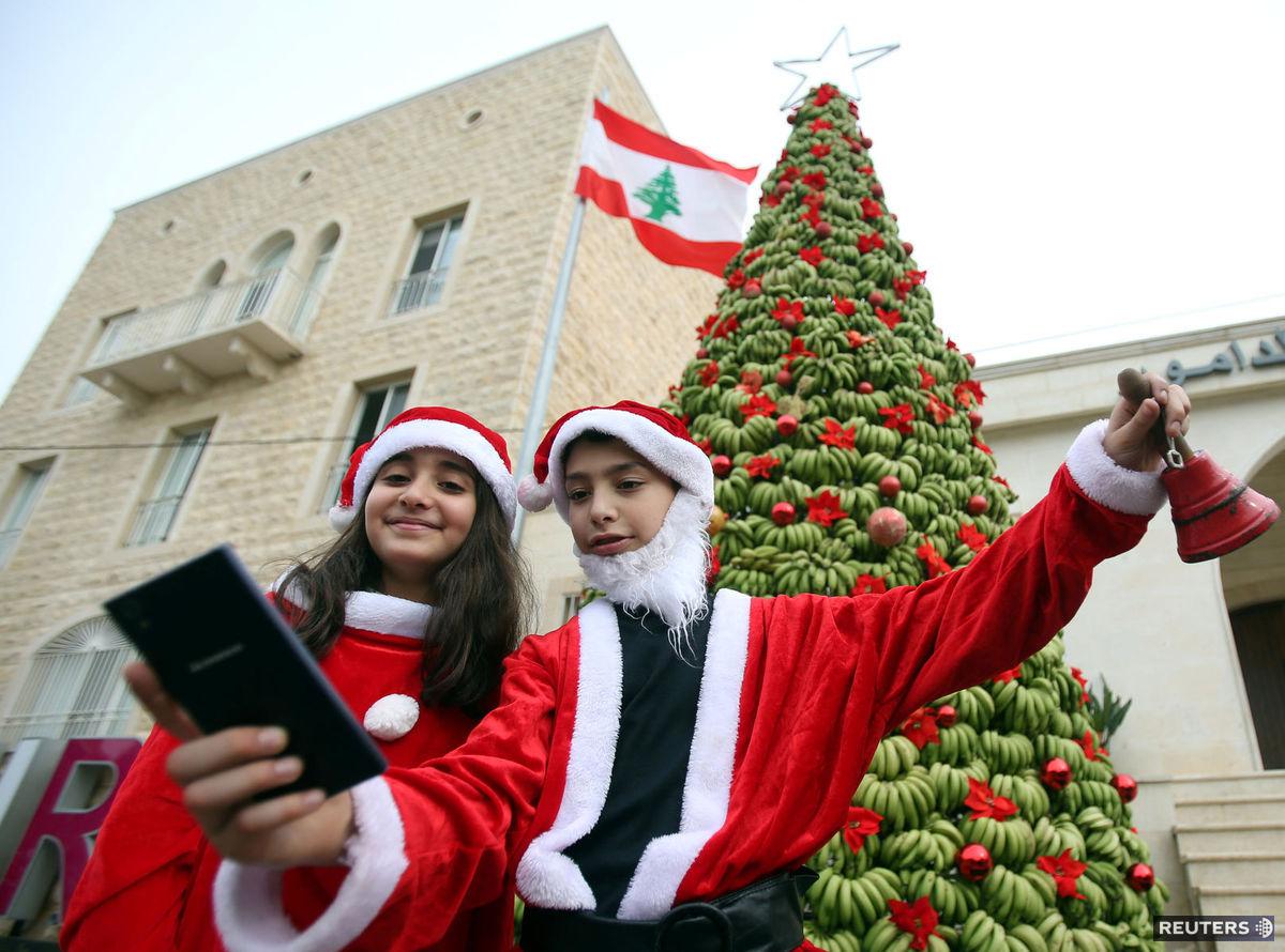 Santa Claus, Vianoce, Bejrút, Libanon