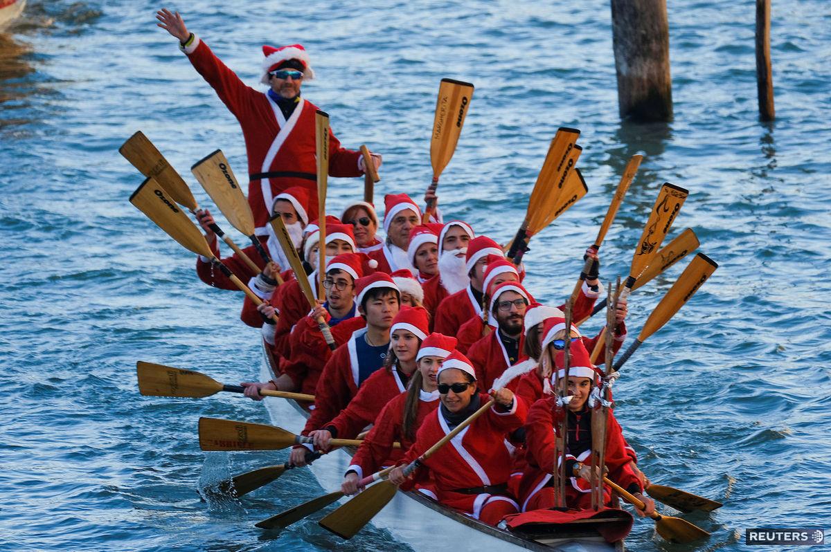 Santa Claus, Vianoce, Benátky, Taliansko