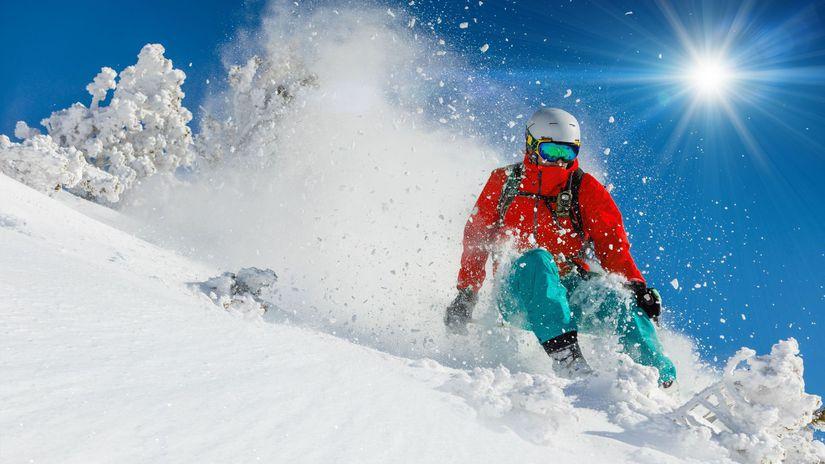 lyžovanie, lyžovačka, lyžiar, zima, sneh, svah,