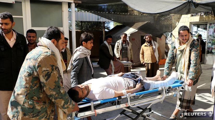 Jemen, zranenie, nemocnica