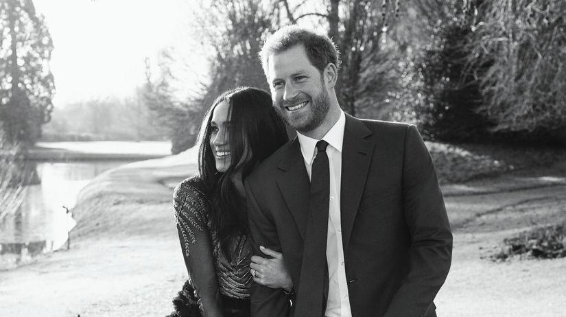 Britský princ Harry a jeho vyvolená, herečka...