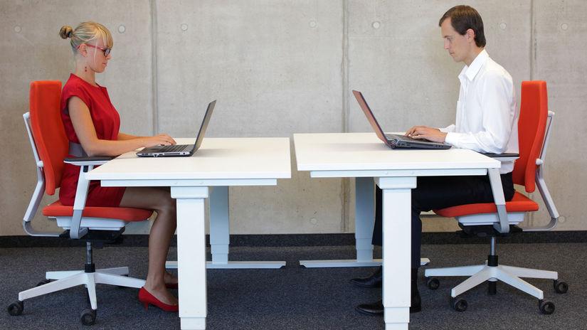 chrbát, chrbtica, sedenie, počítač, laptop