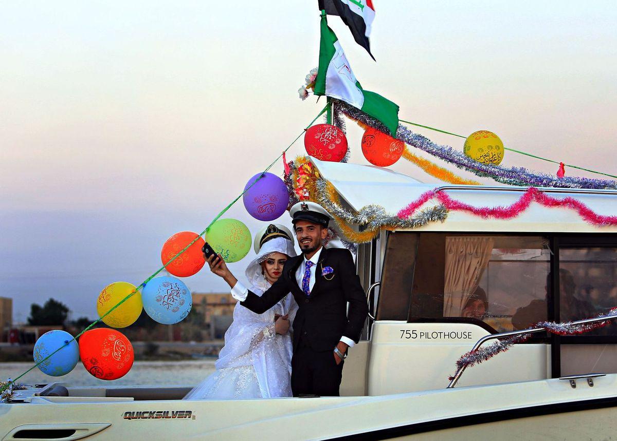 Irak, svadba, loď