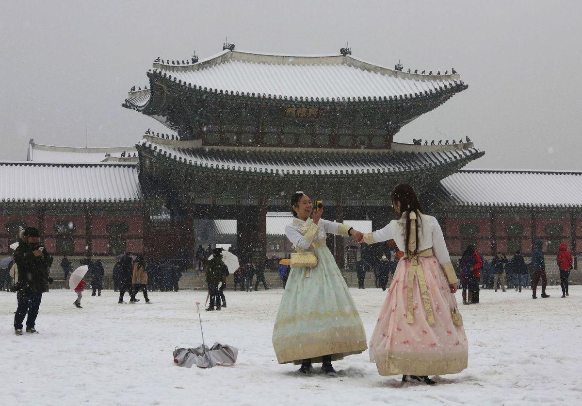 Južná Kórea, sneh
