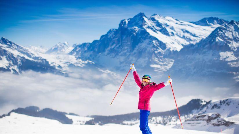lyžovanie, hory, relax